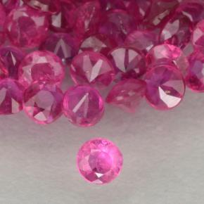 Pinkish Red Ruby Gem - 0ct Diamond-Cut (ID: 500556)
