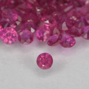 Pinkish Red Ruby Gem - 0ct Diamond-Cut (ID: 500649)