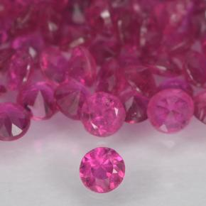 Pinkish Red Ruby Gem - 0ct Diamond-Cut (ID: 500651)
