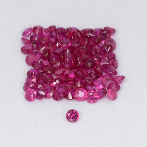 Pinkish Red Ruby Gem - 0ct Diamond-Cut (ID: 500652)