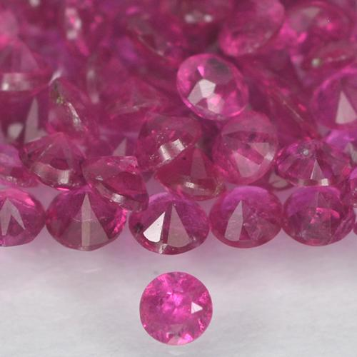 Pinkish Red Ruby Gem - 0ct Diamond-Cut (ID: 500662)