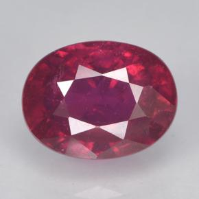 2.2ct Oval Facet Pinkish Red Ruby Gem (ID: 500729)