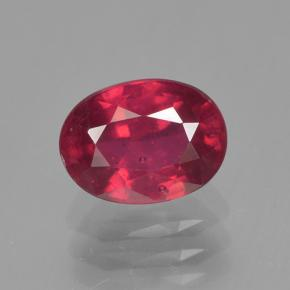 2ct Oval Facet Pinkish Red Ruby Gem (ID: 500730)
