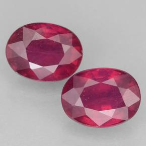 1.9ct Oval Facet Pinkish Red Ruby Gem (ID: 500908)