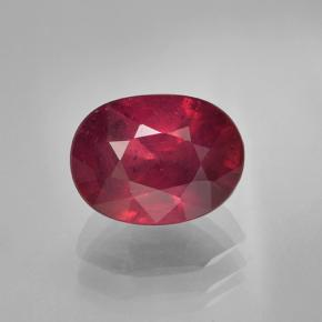 Wine Red Ruby Gem - 2ct Oval Facet (ID: 501735)