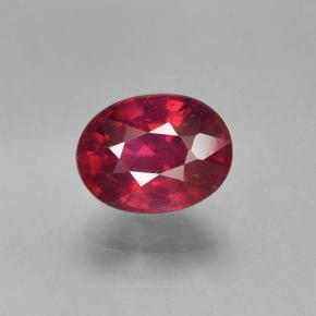 Medium Red Rubí Gema - 2ct Forma ovalada (ID: 501739)