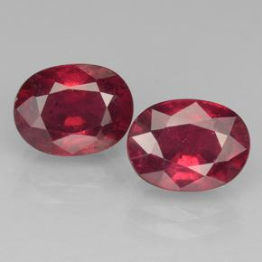 2.2ct Oval Facet Pinkish Red Ruby Gem (ID: 501797)