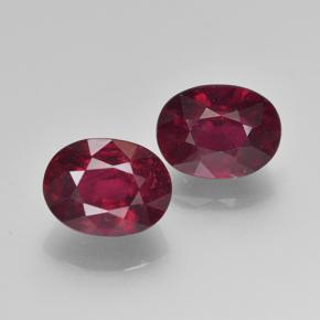 Deep Red Ruby Gem - 2.2ct Oval Facet (ID: 501800)
