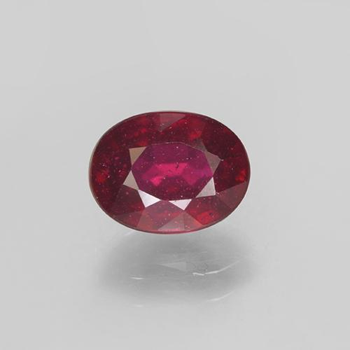 Bright Red Ruby Gem - 2.2ct Oval Facet (ID: 501896)