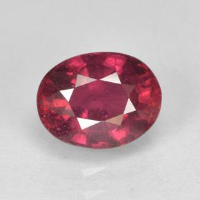 2ct Oval Facet Pinkish Red Ruby Gem (ID: 501953)