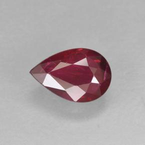 Medium Red Ruby Gem - 0.5ct Pear Facet (ID: 502010)