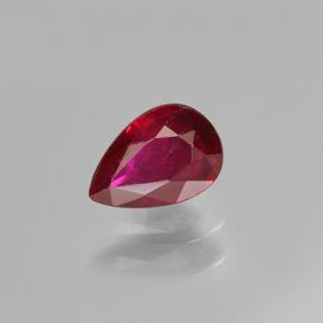 Medium Red Rubí Gema - 0.4ct Corte en forma de pera (ID: 502020)