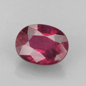 Deep Reddish Pink Ruby Gem - 1.9ct Oval Facet (ID: 502041)