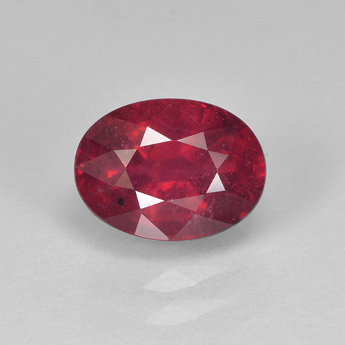 Medium Red Rubí Gema - 2.1ct Forma ovalada (ID: 502643)