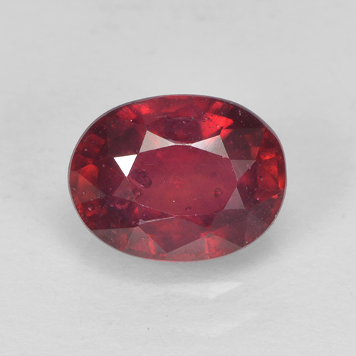 Bright Red Ruby Gem - 1.8ct Oval Facet (ID: 502652)