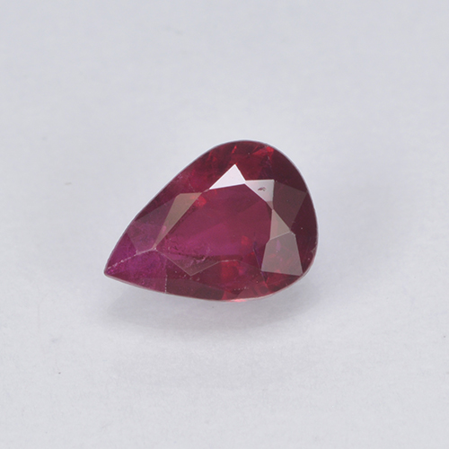 Deep Crimson Red Rubino Gem - 0.3ct Sfaccettatura a pera (ID: 503026)