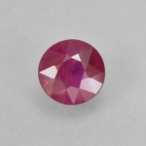 Pinkish Red Ruby Gem - 0.5ct Round Facet (ID: 503040)