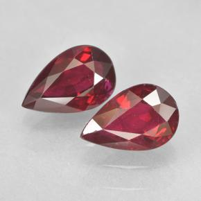 0.6ct Pear Facet Pinkish Red Ruby Gem (ID: 503044)