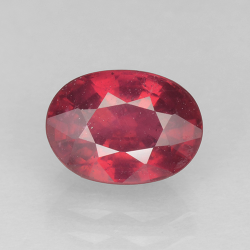 Currant Red Ruby Gem - 1.9ct Oval Facet (ID: 503075)