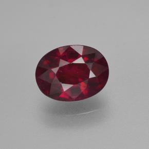 1.7ct Oval Facet Pinkish Red Ruby Gem (ID: 503076)