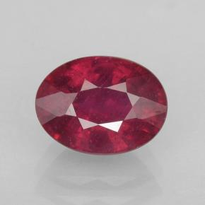 1.9ct Oval Facet Pinkish Red Ruby Gem (ID: 503085)