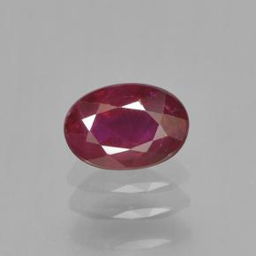 0.6ct Oval Facet Blood Red Ruby Gem (ID: 503387)