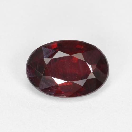 0.6ct Oval Facet Wine Red Ruby Gem (ID: 503388)