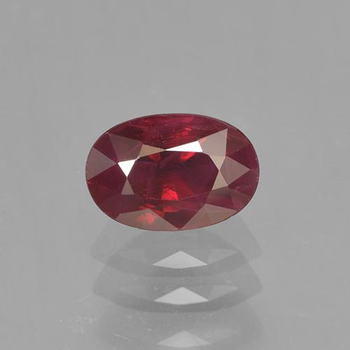 0.6ct Oval Facet Blood Red Ruby Gem (ID: 503389)