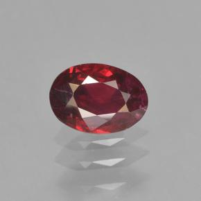 0.5ct Oval Facet Blood Red Ruby Gem (ID: 503390)