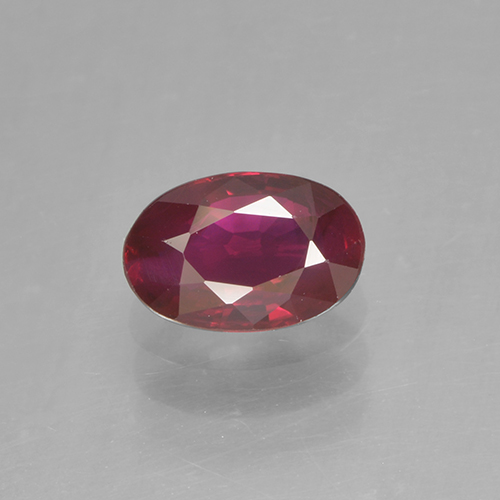 0.5ct Oval Facet Deep Red Ruby Gem (ID: 503391)