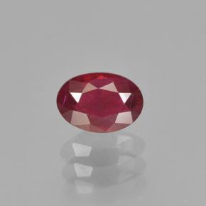 0.6ct Oval Facet Bright Red Ruby Gem (ID: 503465)