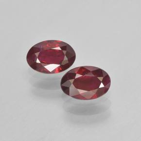 Medium Red Ruby Gem - 0.5ct Oval Facet (ID: 503471)