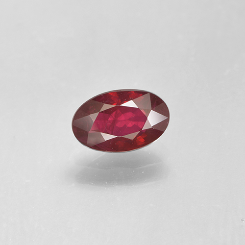 0.6ct Oval Facet Wine Red Ruby Gem (ID: 503532)