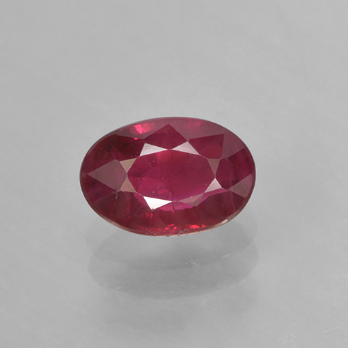 0.7ct Oval Facet Wine Red Ruby Gem (ID: 503534)
