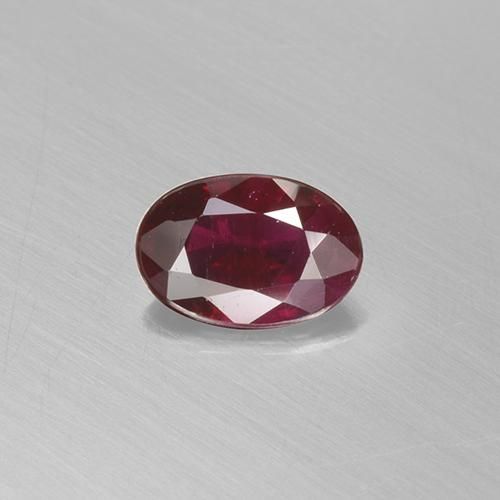 0.6ct Oval Facet Wine Red Ruby Gem (ID: 503538)