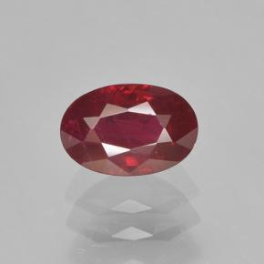 0.8ct Oval Facet Blood Red Ruby Gem (ID: 503539)