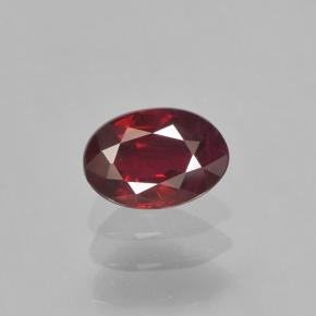 0.5ct Oval Facet Blood Red Ruby Gem (ID: 503540)