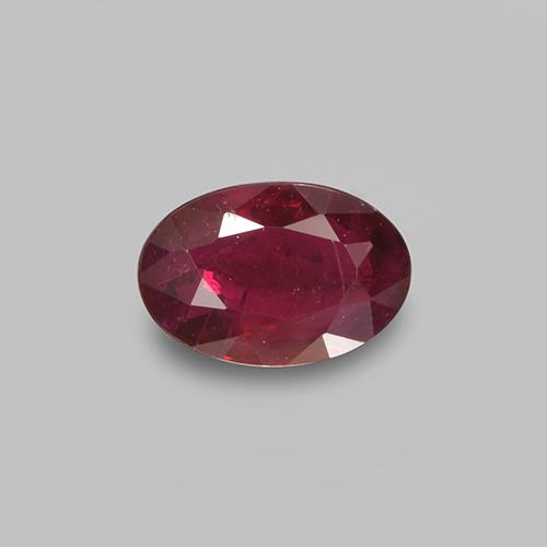 0.5ct Oval Facet Wine Red Ruby Gem (ID: 503541)