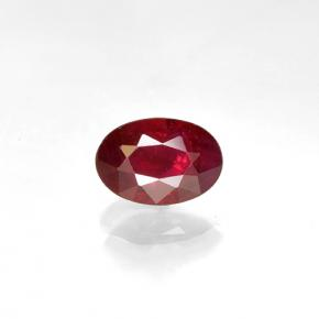 Bright Red Rubino Gem - 0.6ct Ovale sfaccettato (ID: 503598)