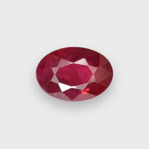 0.6ct Oval Facet Blood Red Ruby Gem (ID: 503599)