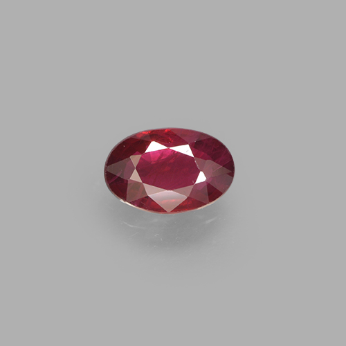 0.5ct Oval Facet Bright Red Ruby Gem (ID: 503600)