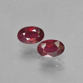 Blood Red Rubí Gema - 0.6ct Forma ovalada (ID: 503613)