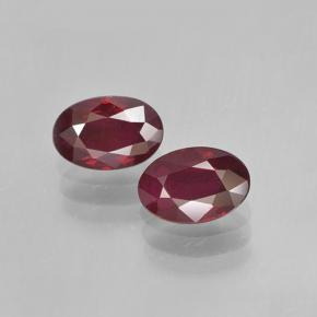 0.6ct Oval Facet Pinkish Red Ruby Gem (ID: 503614)