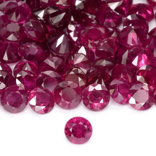 Pinkish Red Ruby Gem - 0.1ct Diamond-Cut (ID: 508419)
