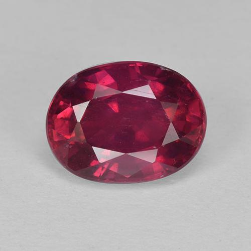 Pinkish Red Ruby Gem - 2ct Oval Facet (ID: 512430)