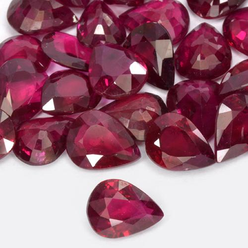 Medium Red Rubí Gema - 0.3ct Corte en forma de pera (ID: 514438)