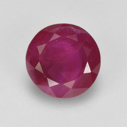 1.01 ct Round Facet Pinkish Red Ruby Gemstone 5.88 mm  (Product ID: 517279)