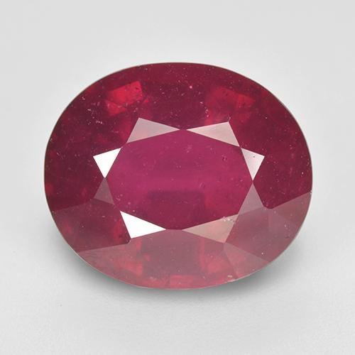 Pinkish Red Ruby Gem - 9.2ct Oval Facet (ID: 517280)