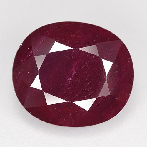 Pinkish Red Ruby Gem - 18.4ct Oval Facet (ID: 520264)