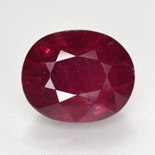 Medium Red Rubí Gema - 9.4ct Forma ovalada (ID: 520265)